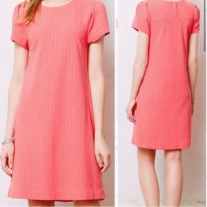 ANTHROPOLOGIE MAEVE Textured Coral Dress